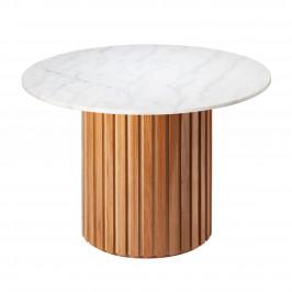 Bílý mramorový kulatý jídelní stůl RGE Moon Ø 105 cm