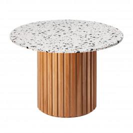 Šedý terazzo kulatý jídelní stůl RGE Moon Ø 105 cm