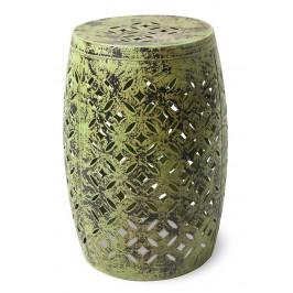 Zelená kovová stolička RGE Nour