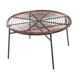 Přírodní kulatý ratanový jídelní stůl RGE Koriander 85 cm