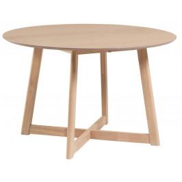 Přírodní kulatý dubový rozkládací jídelní stůl LaForma Maryse 70-120 cm