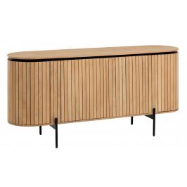 Dřevěná komoda LaForma Licia s motivem žebrování 170 x 50 cm