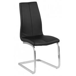 SCANDI Černá čalouněná jídelní židle Asamo