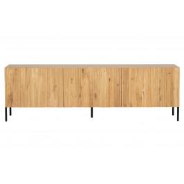 Hoorns Přírodní dubový TV stolek Gravia 180 x 46 cm