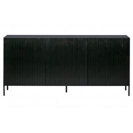 Hoorns Černá dřevěná komoda Gravia 180 x 46 cm