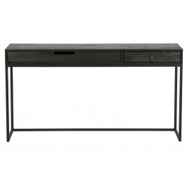 Hoorns Černý pracovní stůl Frax 140 cm