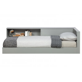 Hoorns Šedá dřevěná postel Ernie 90x200 cm
