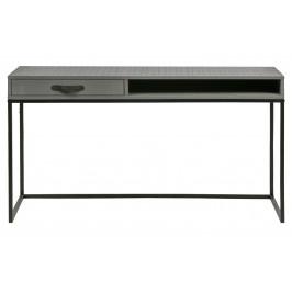 Hoorns Šedý dřevěný psací stůl Neville 130 cm