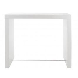 SCANDI Bílý barový stůl Julien 130 cm