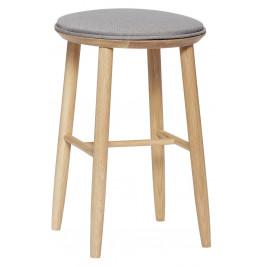 Šedá dřevěná barová stolička Hübsch Torres