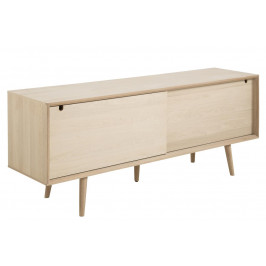 SCANDI Světlá dřevěná komoda Celia 180 x 45 cm