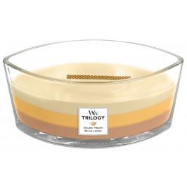 Vonná svíčka WoodWick Trilogy loď, Golden Treats