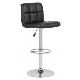 SCANDI Černá čalouněná barová židle Hura