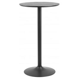 SCANDI Černý barový stůl Kreon 60 cm