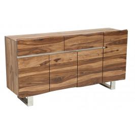 Moebel Living Masivní sheeshamová komoda Holz V. 170 x 45 cm