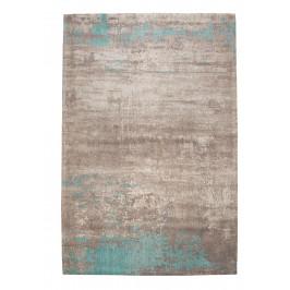 Moebel Living Šedo modrý bavlněný koberec Charlize 240 x 160 cm