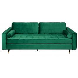 Moebel Living Smaragdově zelená sametová pohovka Scantini 225 cm
