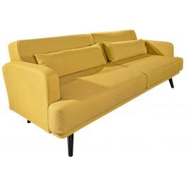 Moebel Living Hořčicově žlutá čalouněná pohovka Debbie 210 cm