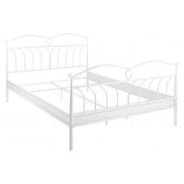 SCANDI Bílá kovová postel Liben 140 cm
