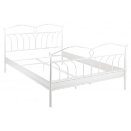 SCANDI Bílá kovová postel Liben 180 cm