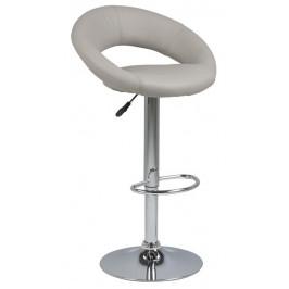 SCANDI Béžová čalouněná barová židle Sunny