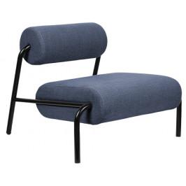 Modré čalouněné lounge křeslo ZUIVER LEKIMA