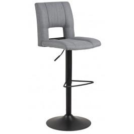 SCANDI Šedá látková barová židle Richie