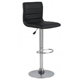 SCANDI Černá čalouněná barová židle Idario
