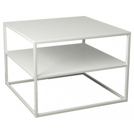 SCANDI Bílý konferenční stolek Renna II. 60 cm