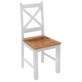 Moebel Living Masivní dřevěná jídelní židle Provence