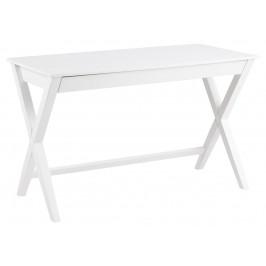 SCANDI Bílý kaučukový pracovní stůl Text 120 x 60 cm