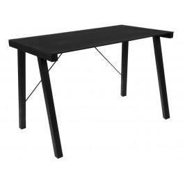 SCANDI Černý skleněný pracovní stůl Syphon 125 x 65 cm