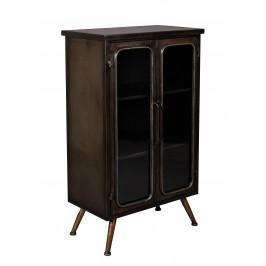 Černá kovová vintage skříň DUTCHBONE Denza