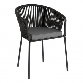 Černá pletená zahradní židle LaForma Yanet