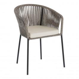 Šedá pletená zahradní židle LaForma Yanet