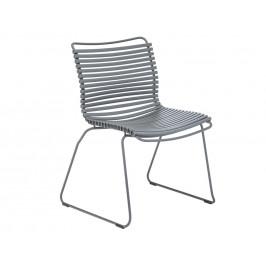 Šedá plastová zahradní židle HOUE Click