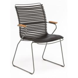 Černá plastová zahradní židle HOUE Click II. s područkami