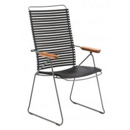 Černá plastová polohovací zahradní židle HOUE Click