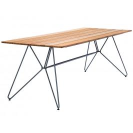 Přírodní bambusový zahradní jídelní stůl HOUE Sketch 160 x 88 cm