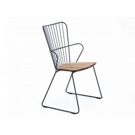 Černá bambusová zahradní židle HOUE Paon