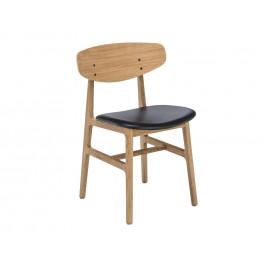 Černá kožená jídelní židle HOUE Siko
