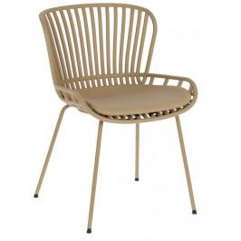 Béžová čalouněná plastová zahradní židle LaForma Surpik