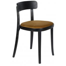 Okrově žlutá dřevěná jídelní židle DUTCHBONE Brandon
