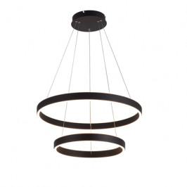 Altavola Černé kruhové kovové závěsné světlo Mayo