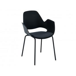 Tmavě šedá čalouněná jídelní židle HOUE Falk III.