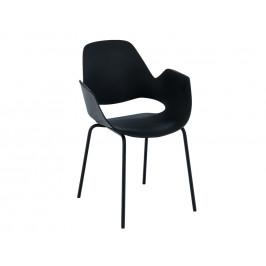 Černá plastová jídelní židle HOUE Falk III.
