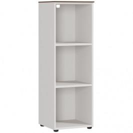 GERMANIA Bílý dřevěný regál 4218-573 GW-Ancona 40 x 41 cm