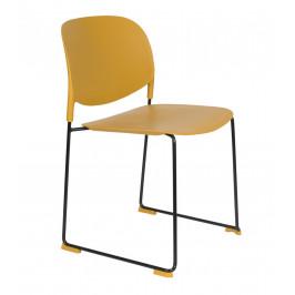 White Label Living Okrová plastová židle WLL Stacks