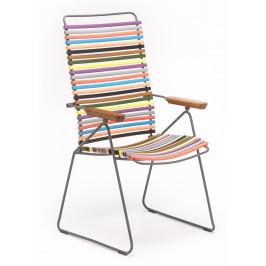 Pestrobarevná plastová polohovací zahradní židle HOUE Click
