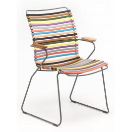 Pestrobarevná plastová zahradní židle HOUE Click II. s područkami